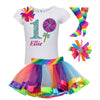 1st Birthday Shirt - Blueberry Swirl Lollipop