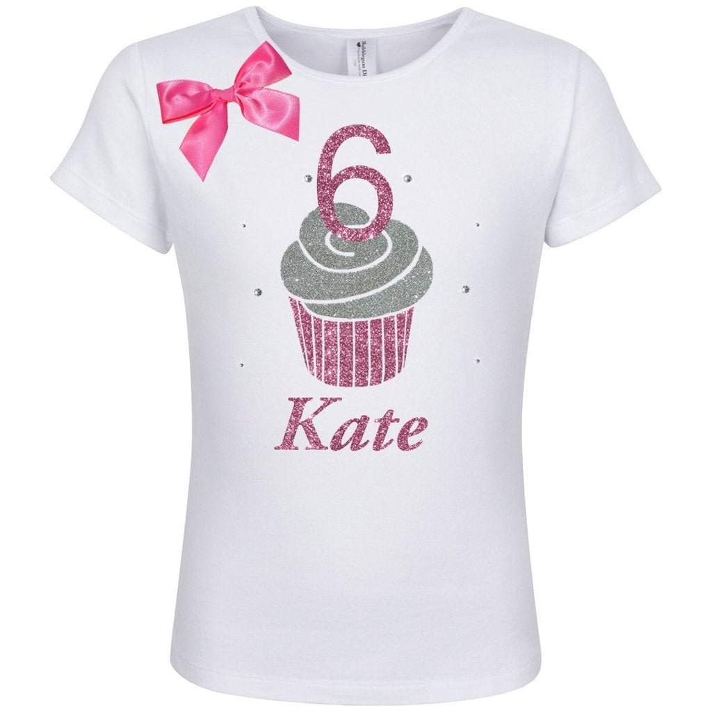 6th Birthday Shirt Pink Cupcake Outfit - 6th Birthday - Bubblegum Divas Store