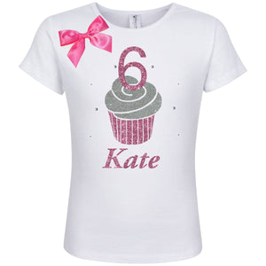 Pink Cupcake 6 Birthday Shirt