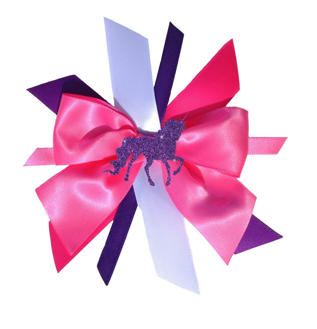 Pink Unicorn Birthday Hair Bow Princess Hair Clip Purple Unicorn Hair Bow Glitter Unicorn Sparkle Fairytale Hair Bow Little Pony Hair Bow