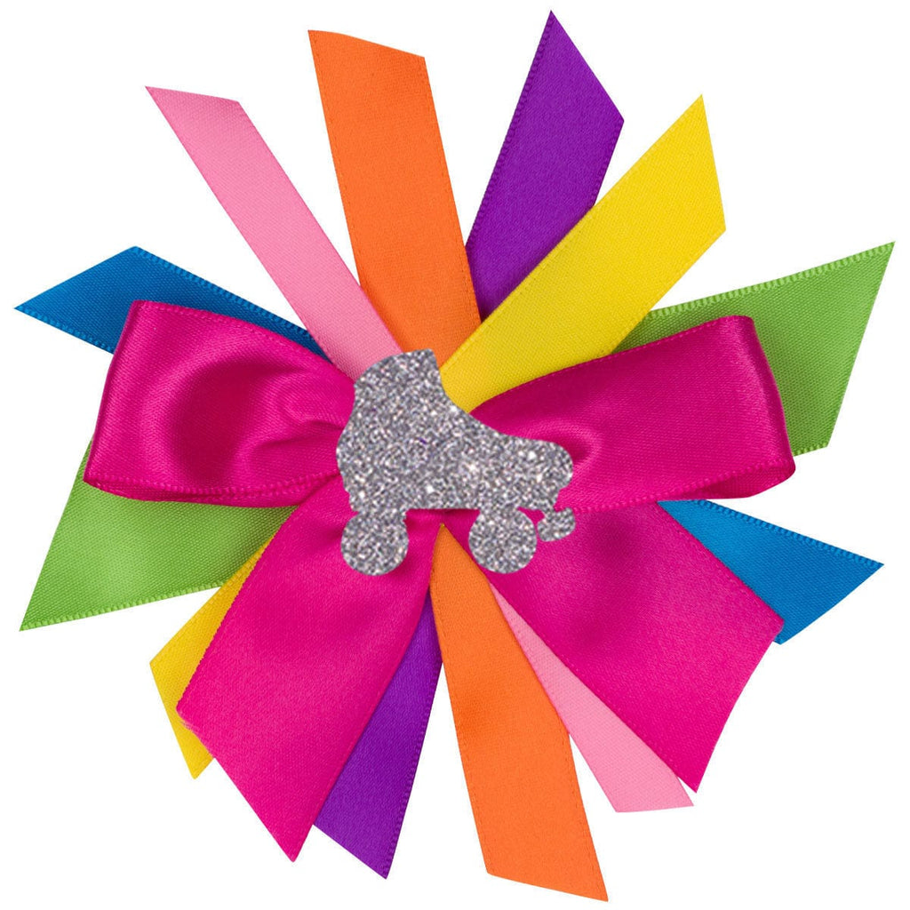 Roller Skate Rainbow Hair Bow - Hairbow - Bubblegum Divas Store