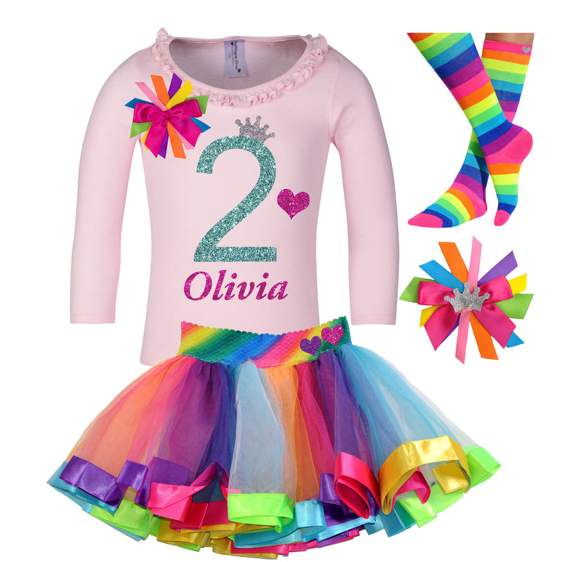 2nd Birthday Long Sleeve Shirt - 2nd Birthday - Bubblegum Divas Store