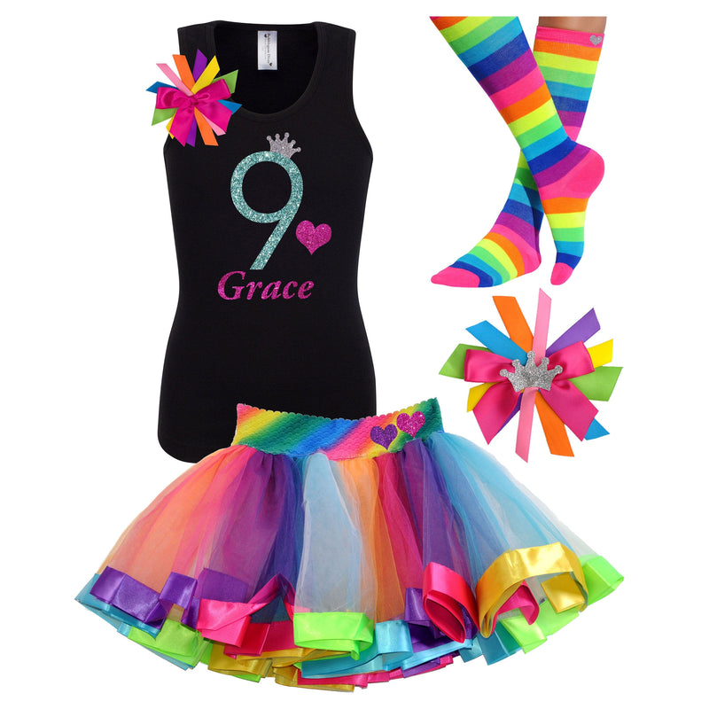 9th Birthday Green Apple - 9th Birthday Outfit - Bubblegum Divas Store
