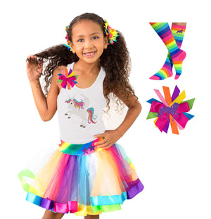 Girls Rainbow Sparkle  Unicorn Outfit - Outfit - Bubblegum Divas Store