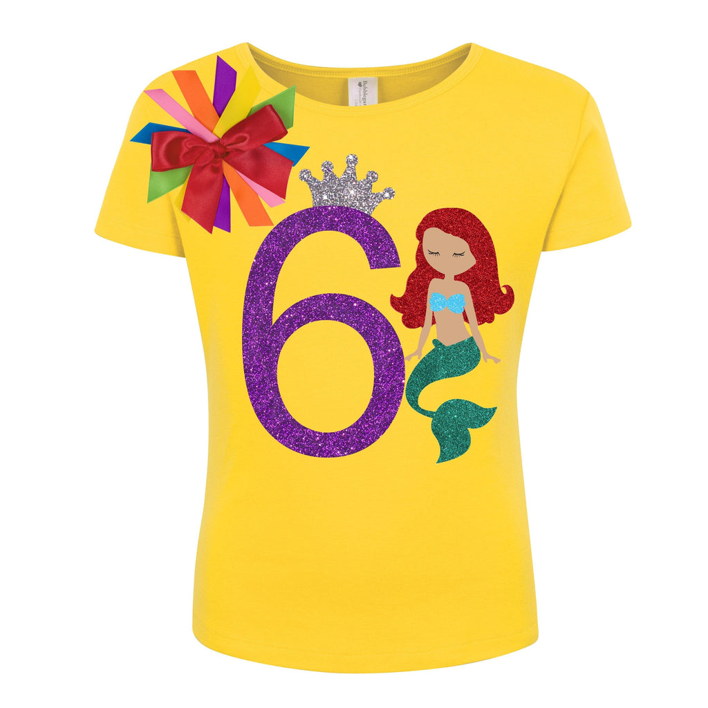 Sparkle Mermaid 6 Birthday Shirt