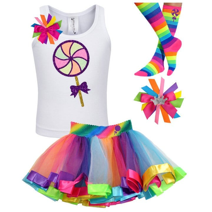 Neon Glow Lollipop - Lollipop Birthday Outfit Kids Teens Girls - Bubblegum Divas Store