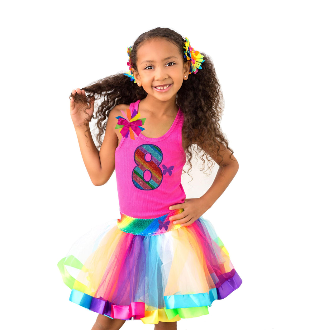 Butterfly 8th Birthday Girl Outfit - 8th Birthday - Bubblegum Divas Store