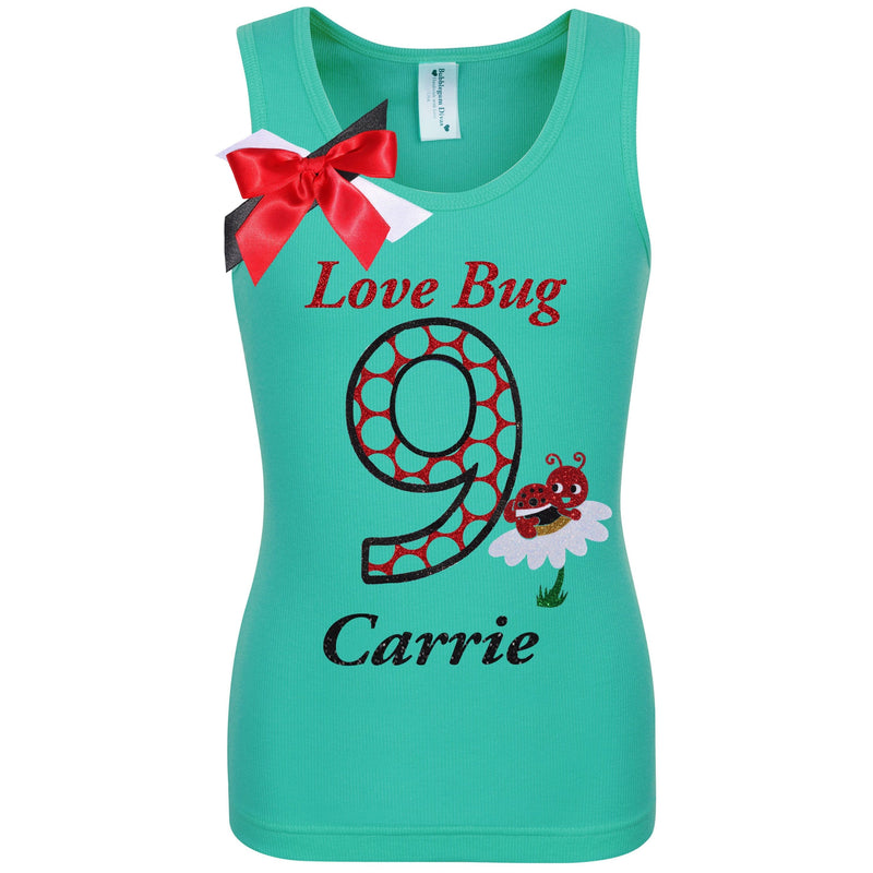 9th Birthday Shirt - Love Bug - 9th Birthday - Bubblegum Divas Store