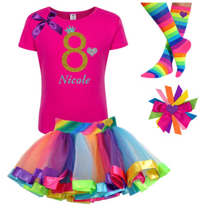 8th Birthday Girl Shirt - 8th Birthday Outfit - Bubblegum Divas Store
