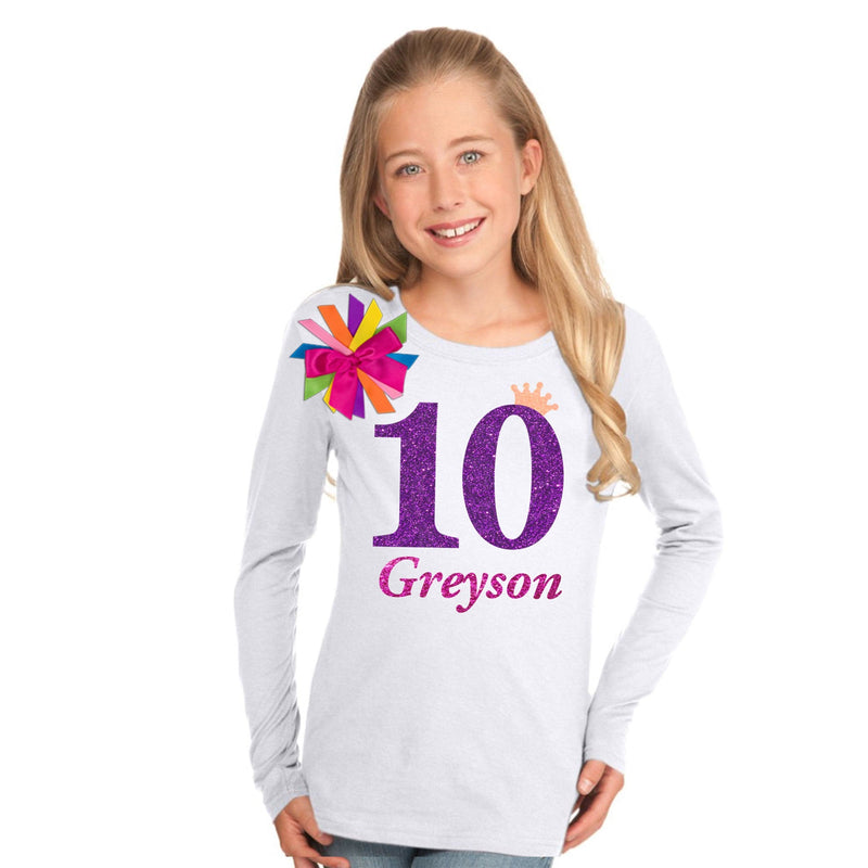 10th Birthday Girl Shirt Neon Glow - 10th Birthday - Bubblegum Divas Store