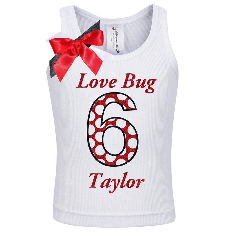 Lady Bug 6 Birthday Shirt