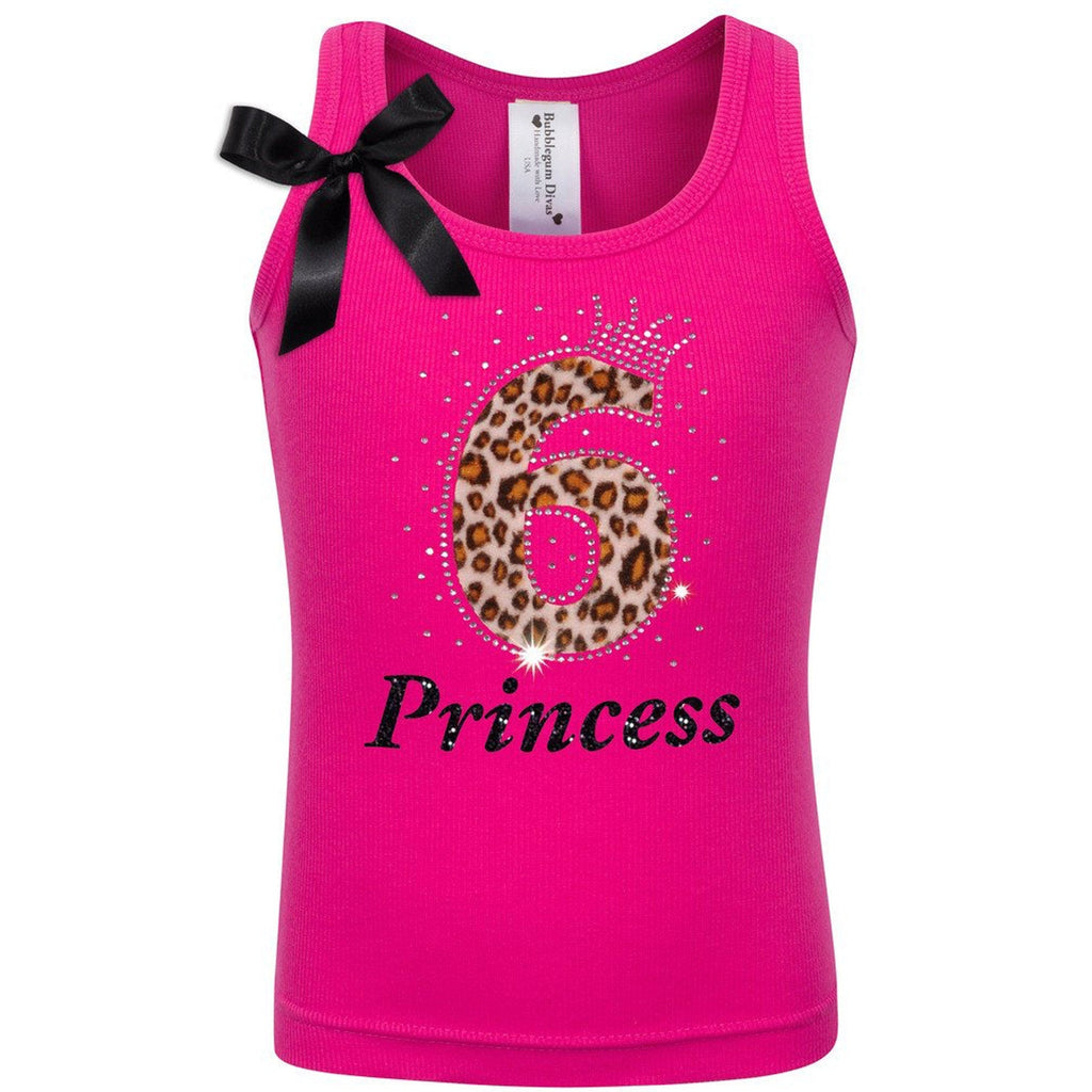 6th Birthday Hot Pink Cheetah - Shirt - Bubblegum Divas Store
