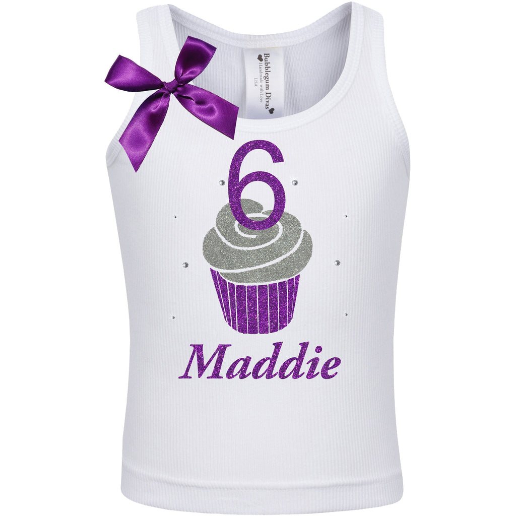 Sweet Cupcake 6 Birthday Shirt