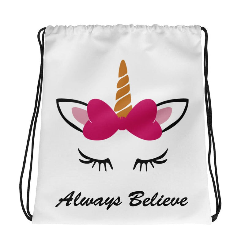 Unicorn Drawstring Bag Personalized - Bag - Bubblegum Divas Store
