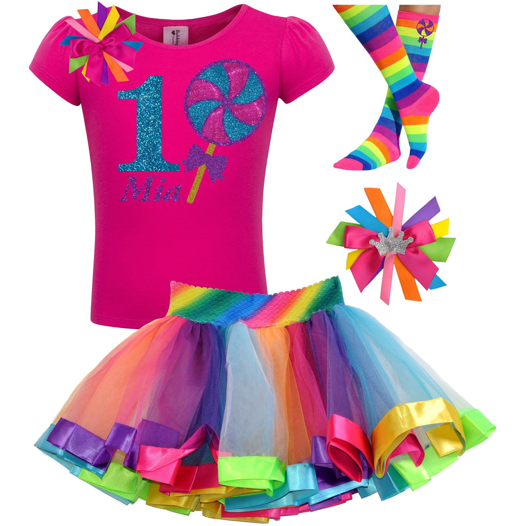 Lollipop Blueberry Swirl 1st Birthday - Lollipop Birthday Outfits Baby Toddler Girls - Bubblegum Divas Store