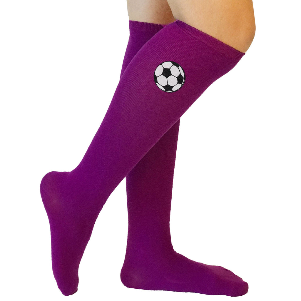Soccer Ball Purple Socks