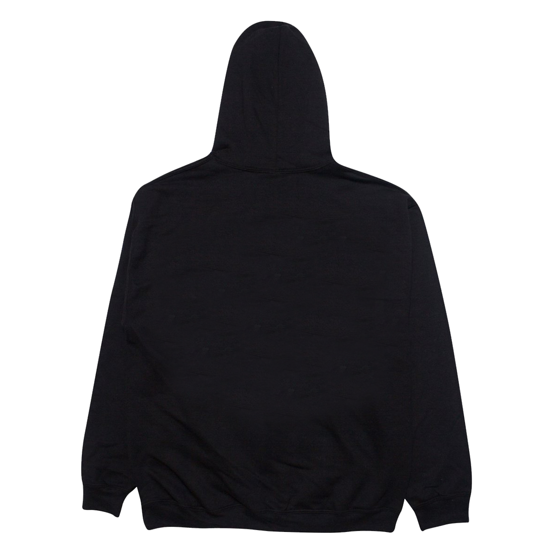 Back of black hoodie