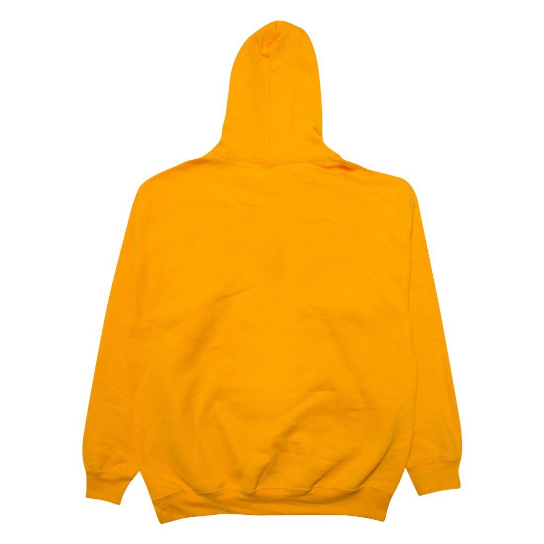 Back of Yellow Hoodie
