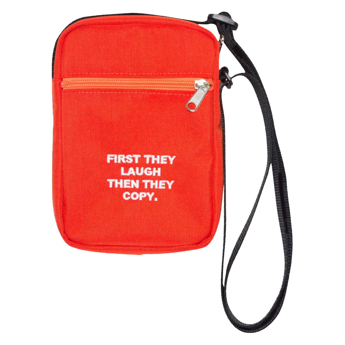 First They Laugh Then They Copy Orange Shoulder Bag Satchel