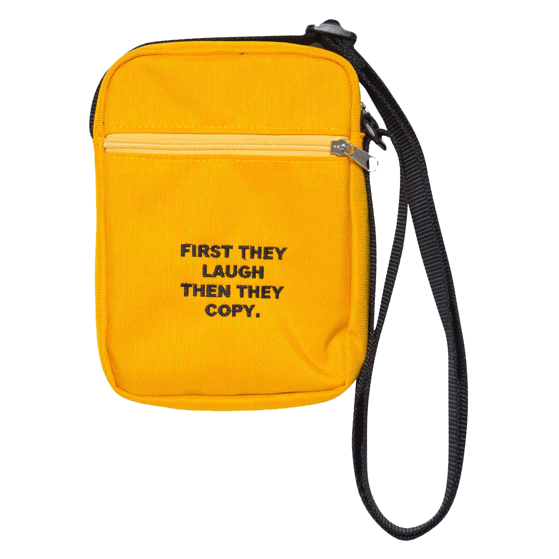 First They Laugh Then They Copy Yellow Shoulder Bag Satchel