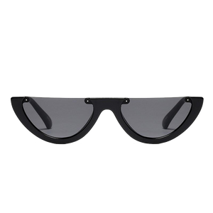 Half Frame Black Sunglasses