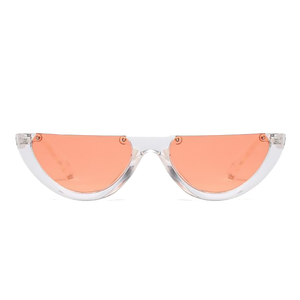 Half Frame Orange Sunglasses