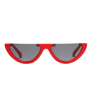Half Frame Red Sunglasses