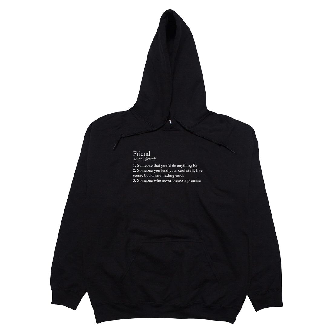 Stranger Things Friend Definition Hoodie Black
