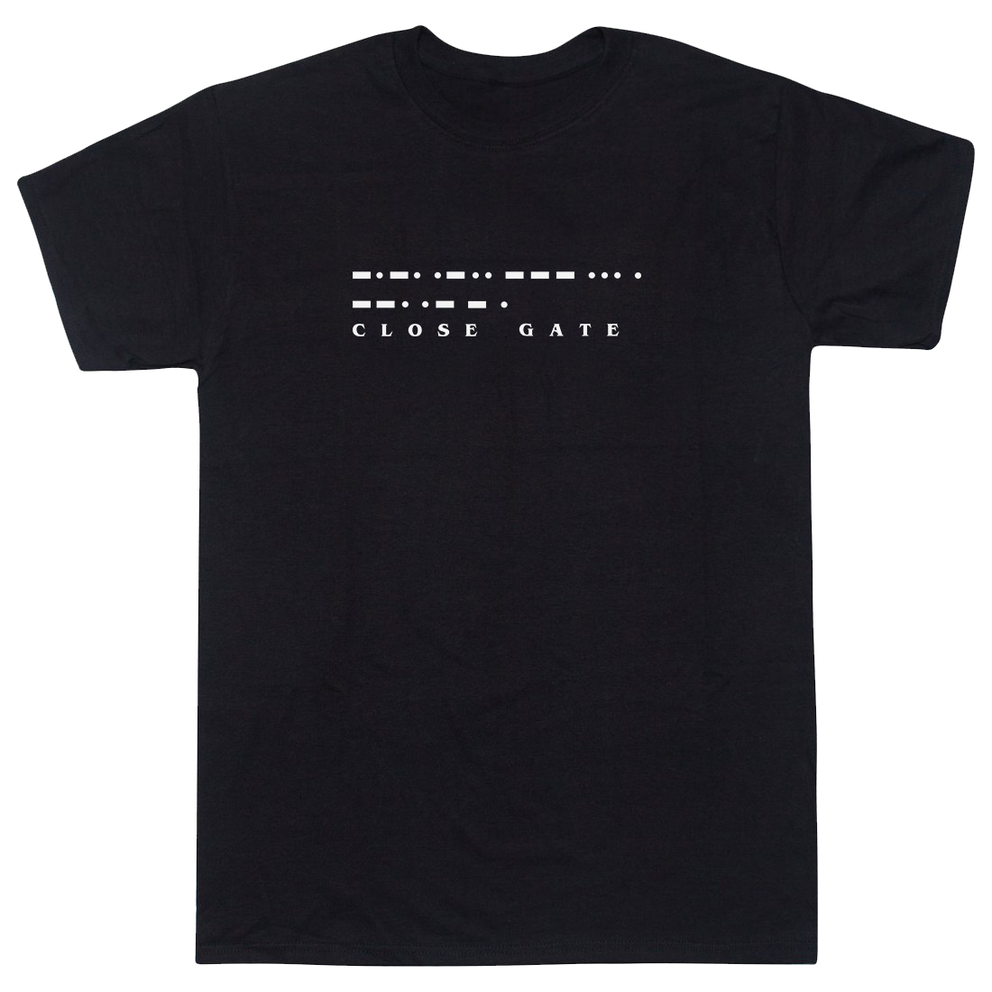 CLOSE GATE Black T-Shirt - Culture Clothing