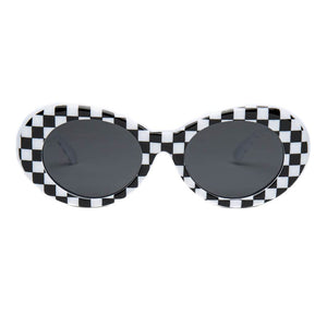 Checkered Black and White Clout Goggles Sunglasses
