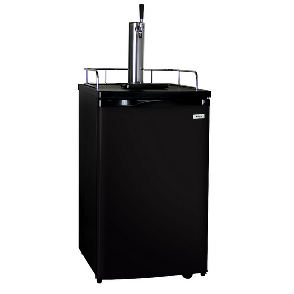 Kegco KC K199B-1 Single Tap Full-Size Kegerator with wheels