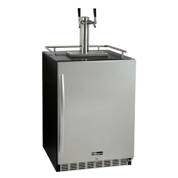 Kegco HK38BSU-2 Double Tap Built-In Outdoor Digital Display Kegerator