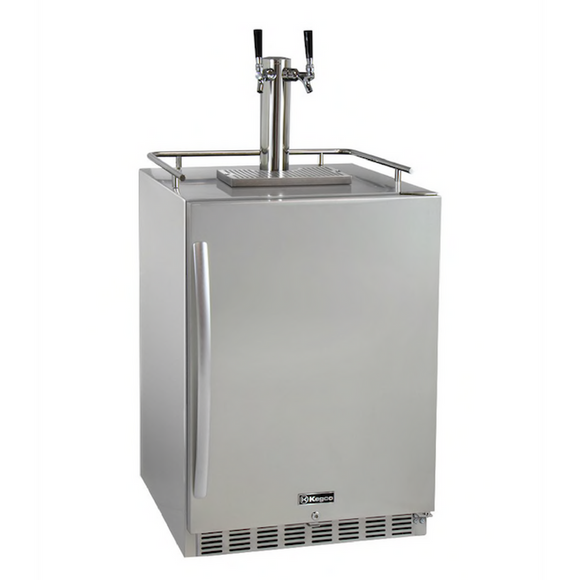 Kegco HK38SSU-2 Double Tap Built-In Outdoor Digital Display Kegerator