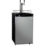 Kegco K199SS-2 Dual Tap Kegerator with Wheels