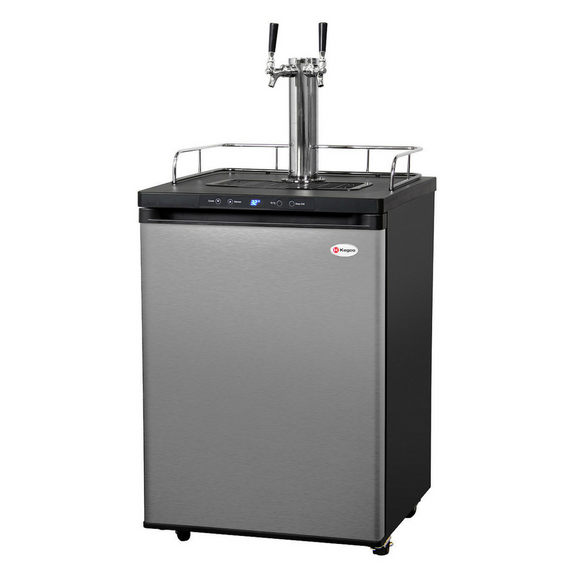 Kegco K309SS-2 Full-Size Double Tap Kegerator with Deep Chill