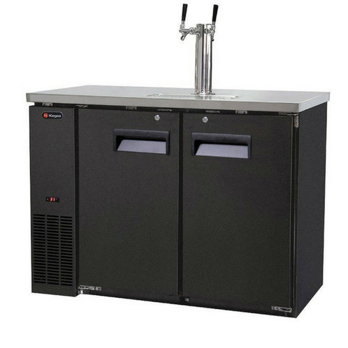 Kegco XCK-2448B Two Keg Two Faucet Commercial Kegerator