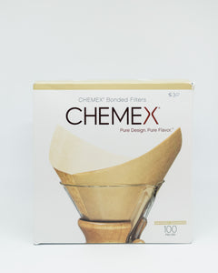 Chemex 6 Cup Square Filters - Oxygen Bleached (100PK)