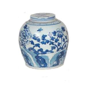 Floral lidded Jar
