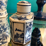 Blue and White mini tea jar