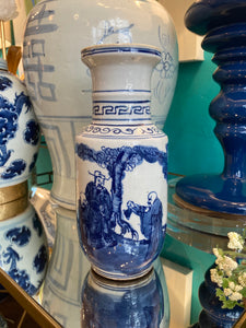 Blue and white vase small