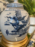 "Ginger Jar 9""- blue and white reproduction"