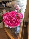 Faux Peony Flower Stem - Large Bloom