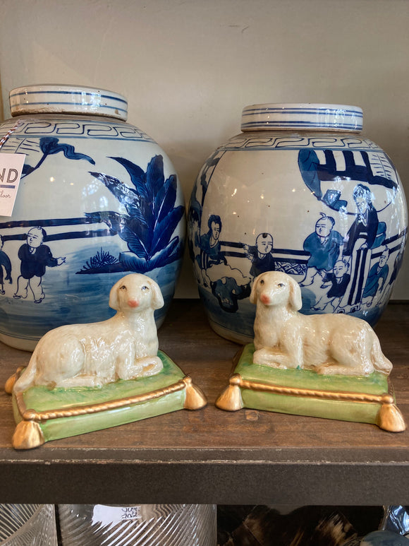 Porcelain sheep pair