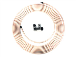 "25 Ft. Roll of 1/4"" Copper Nickel Brake Line Tubing w/ Tube cutter"