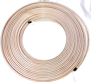 "50 Ft. Roll of 1/4"" Copper Nickel Brake Line Tubing"