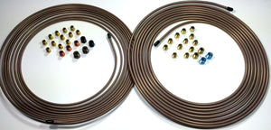 25 ft Roll of 3/16 AND 1/4 Copper Nickel Tube with Fittings