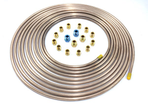 "25 Foot of 1/4"" Copper Nickel Tubing with Fittings"