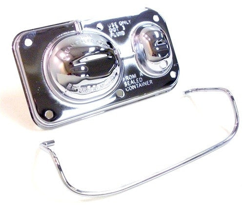 1970 - 1981 Brake Master Cylinder Cover, Chrome