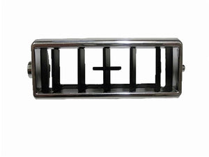 Dash Air Vent Outlet Louver Center Insert, Complete Outer Chrome Housing