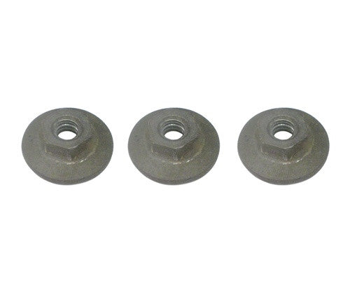 1967 - 1969 Quarter Window Glass Mounting Track Channel Nuts Set, 3 Pieces